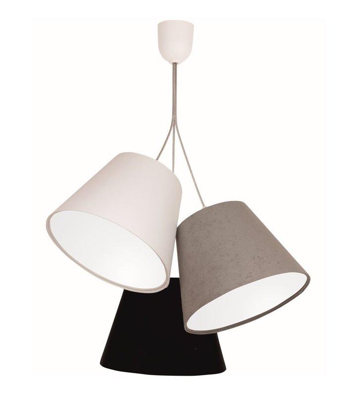 Lampa wisząca Selena z 3 abażurami w różnych kolorach