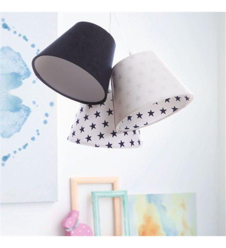 Lampa wisząca granatowo biała w gwiazdki Lena do pokoju dziecka
