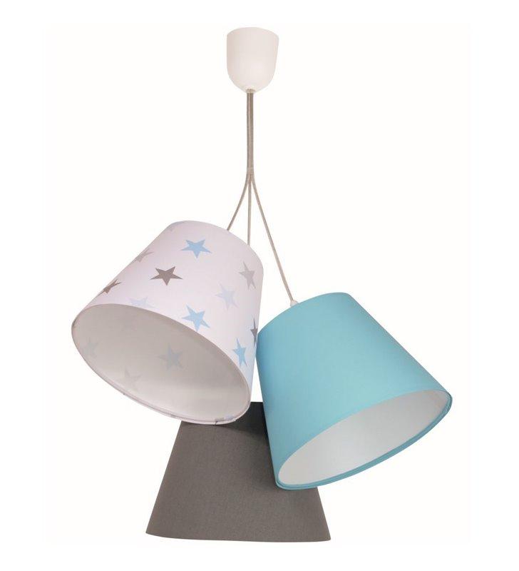 Lampa wisząca Atena kolorowe abażury dziecięca - DOSTĘPNA OD RĘKI