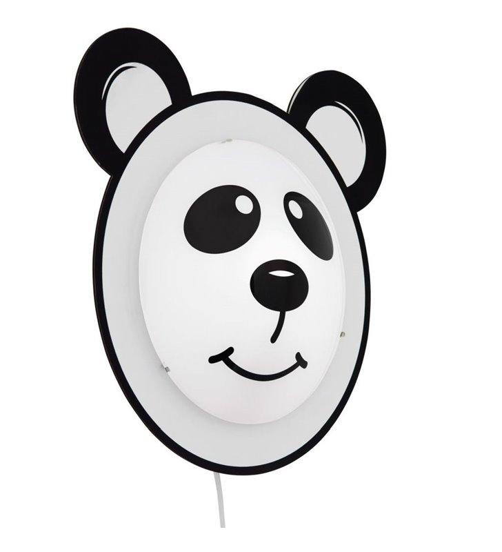Kinkiet dziecięcy Pandino z włącznikiem na kablu miś panda
