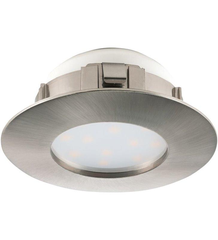 Okrągłe oczko Pineda LED nikiel satynowany z możliwością ściemniania