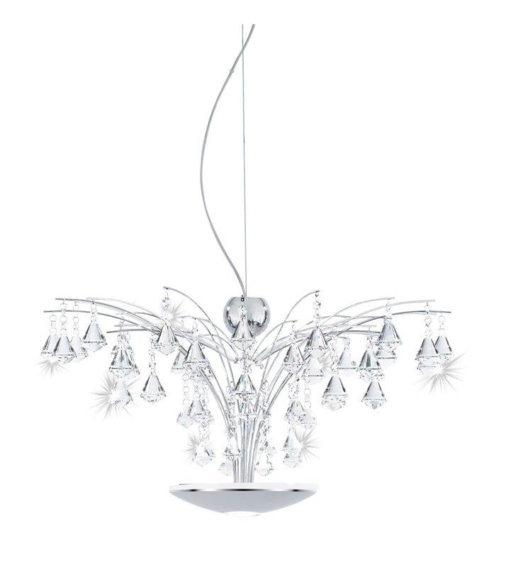 Lampa wisząca Miramas dekoracyjna kryształowa możliwość sterowania pilotem