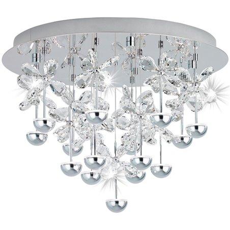 Plafon Pianopoli 500 kryształy w kształcie kwiatków do salonu jadalni sypialni na korytarz