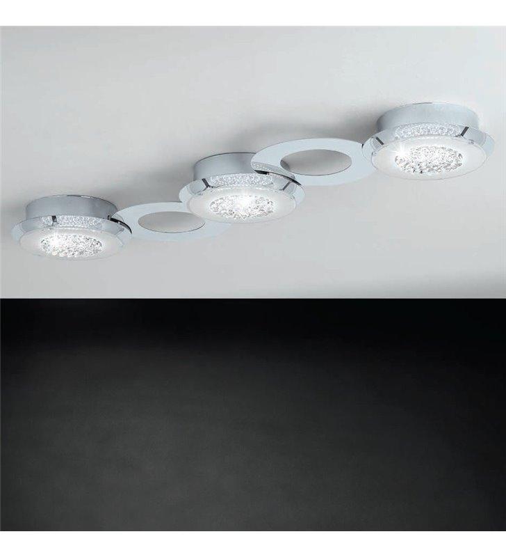 Podłużny plafon z kryształami Privero1
