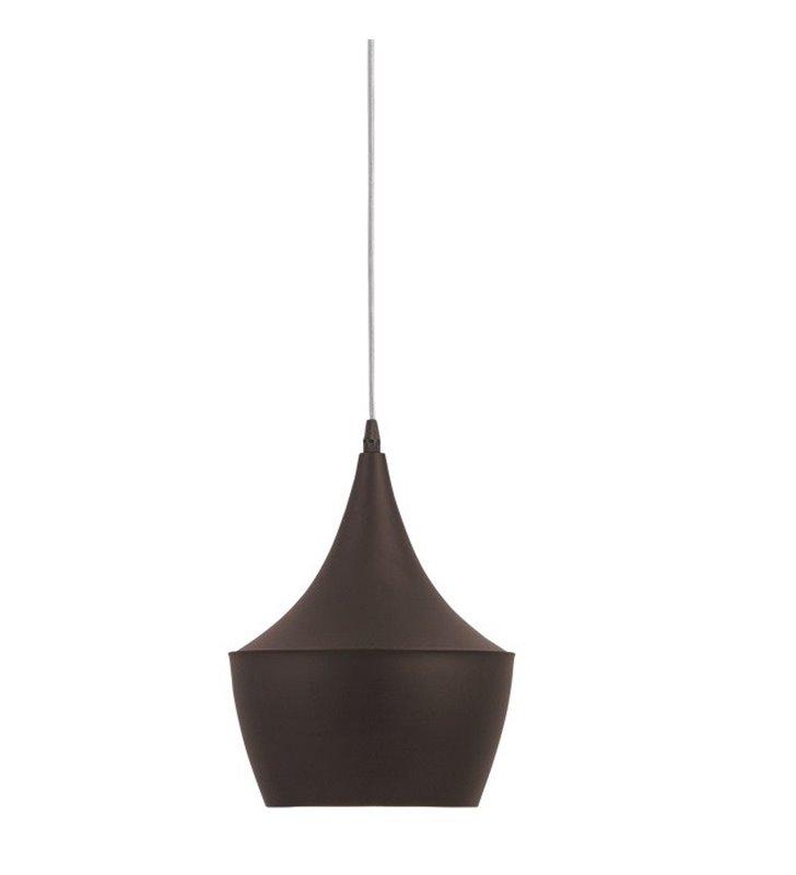 Ciemnobrązowa lampa wisząca z kremowym środkiem Marazio