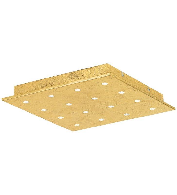 Kwadratowy złoty plafon LEDowy Vezeno1 470 kolekcja Eglo Star of the Light do salonu sypialni na przedpokój