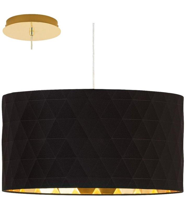 Czarno złota lampa wisząca Dolorita abażur trójwymiarowy geometryczny