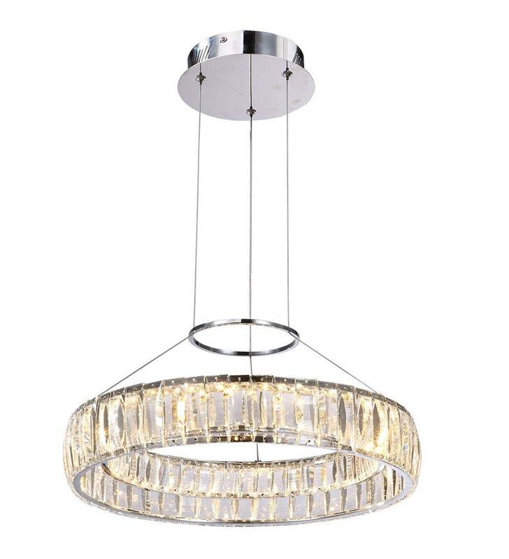 Lampa wisząca Maxis z podłużnymi kryształami wykończenie chrom