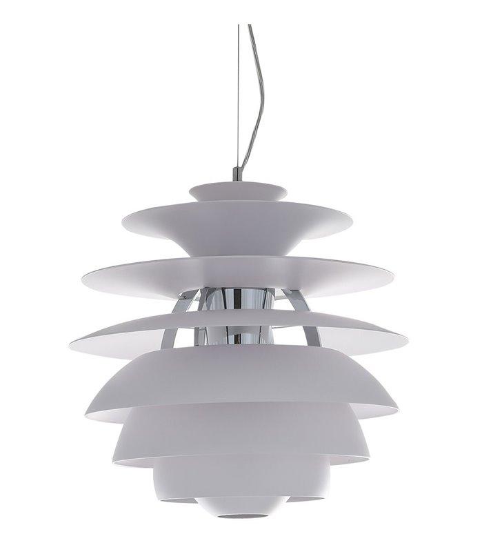 Biała designerska lampa wisząca Wes