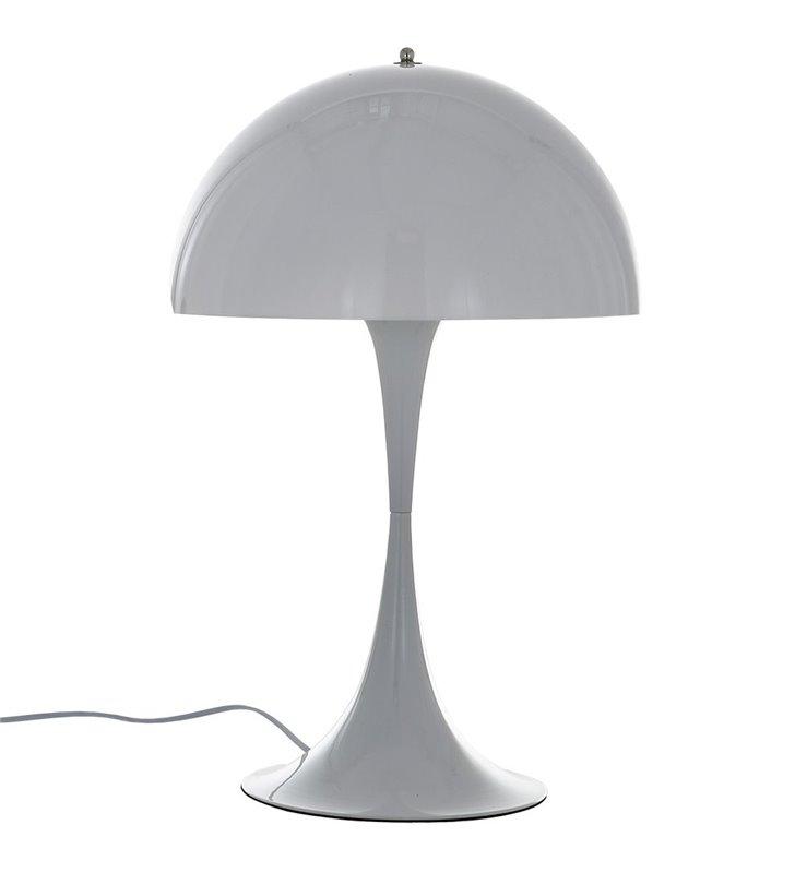 Lampa stołowa Sheridan biała klosz kopuła