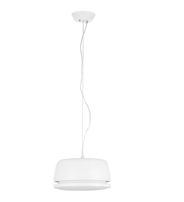 Biała LEDowa lampa zwisająca Miranda