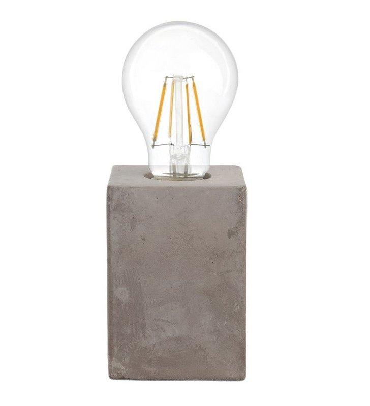 Ceramiczna mała lampka stołowa Prestwick podstawa jak z betonu