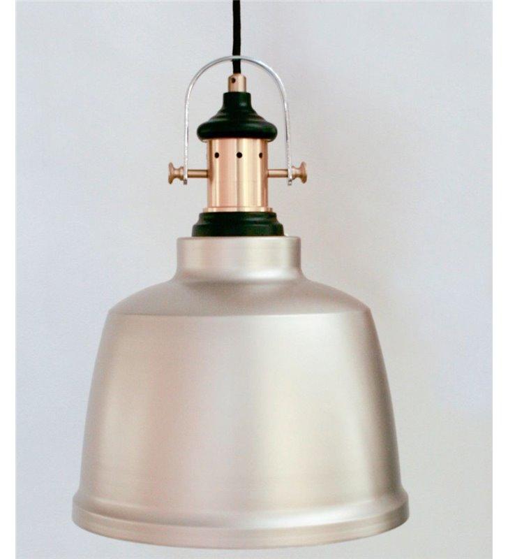 Gilwell lampa wisząca w kolorze szampana metalowa nowoczesna w stylu loftowym industrialnym vintage
