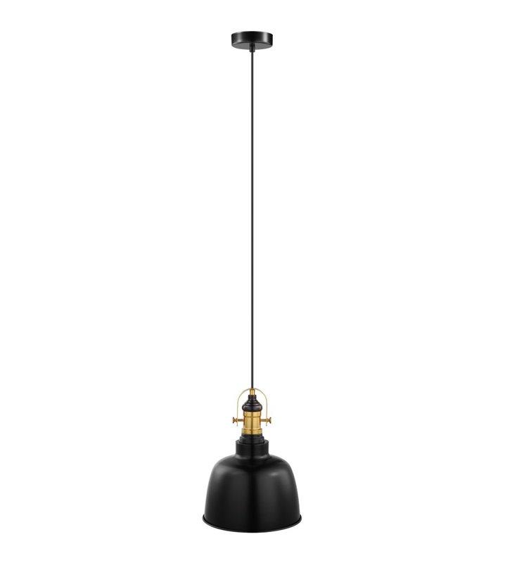 Gilwell czarna lampa wisząca z patynowym wykończeniem nowoczesna w stylu loftowym industrialnym vintage