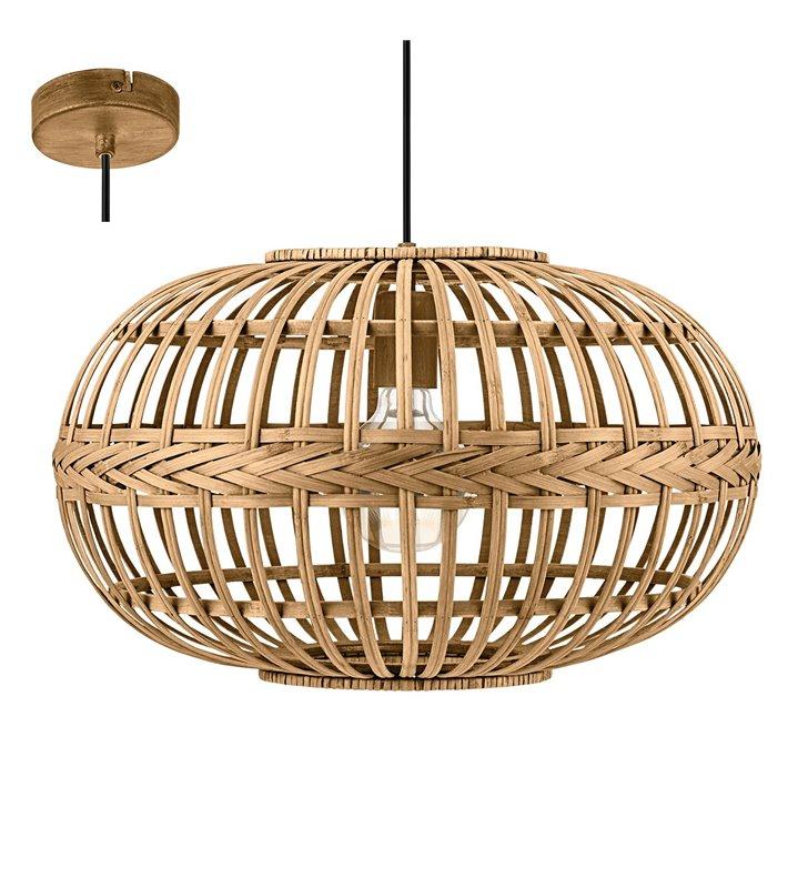 Lampa wisząca Amsfield pękaty klosz styl vintage do salonu sypialni jadalni kuchni