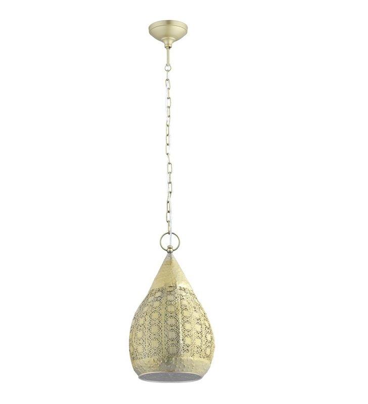Złota dekoracyjna lampa zwisająca w stylu vintage Melilla