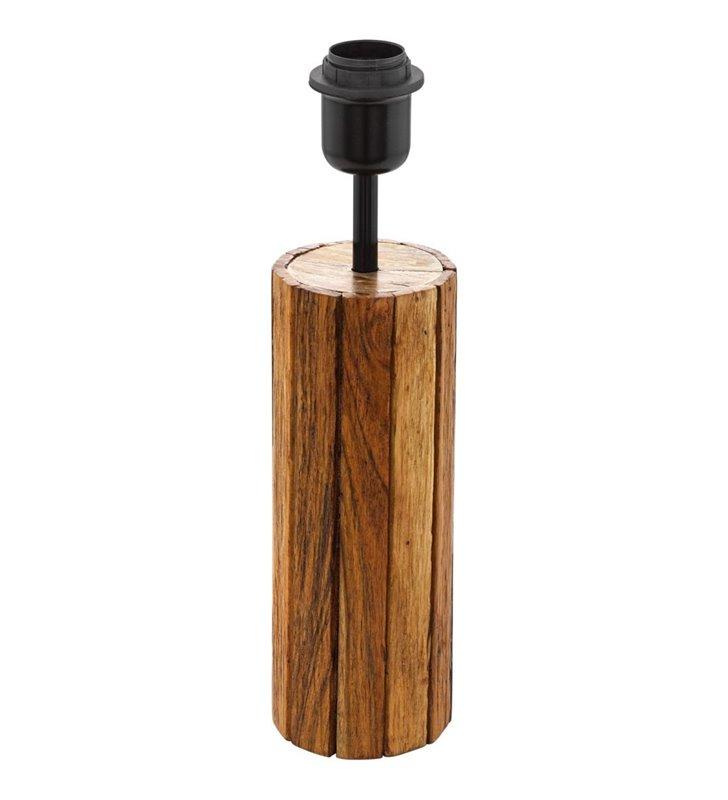 Drewniana podstawa lampy stołowej Thornhill okrągła