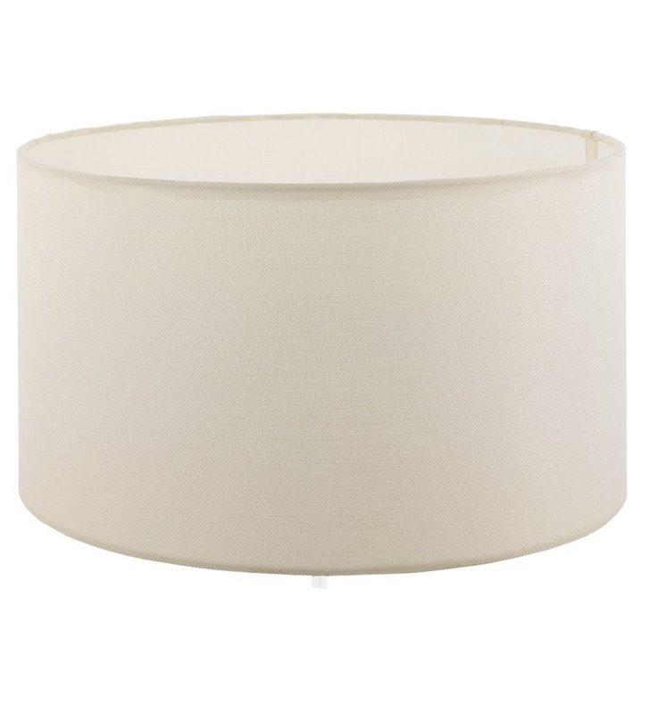 Lampa Vintage - duży abażur w kształcie walca kremowy średnica 50 cm