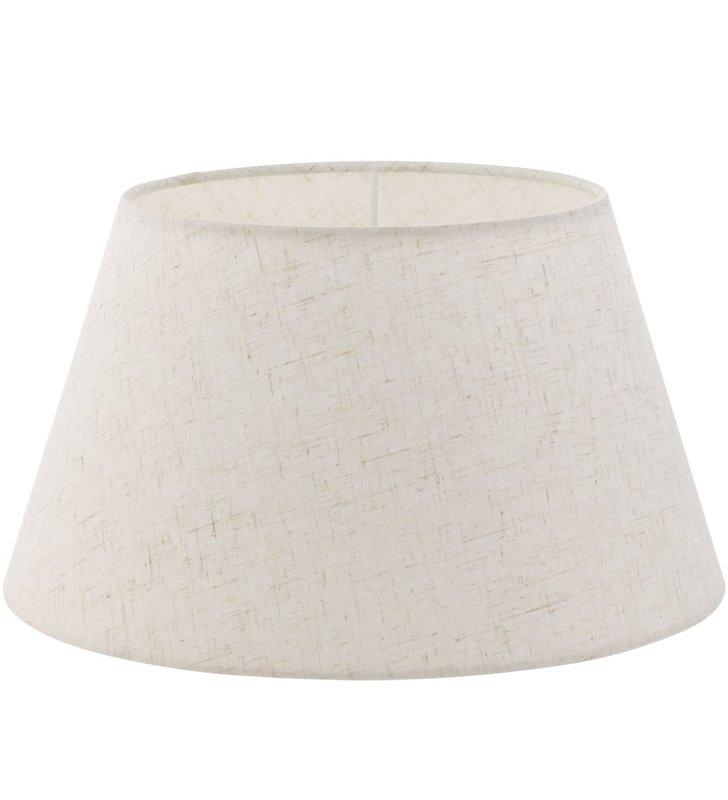Lampa Vintage(2) - kremowy abażur stożek średnica 35 cm