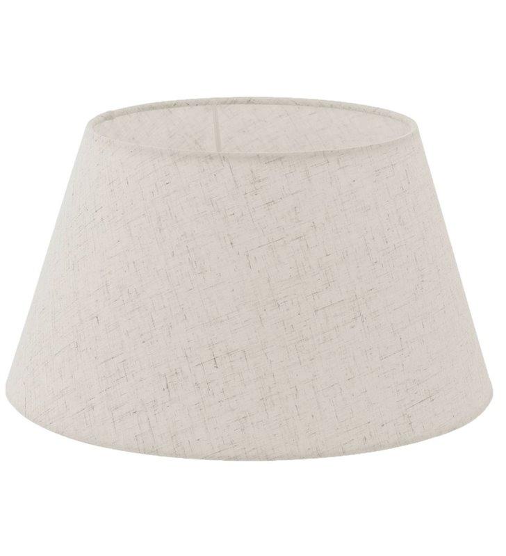 Lampa Vintage(2) - abażur w kolorze kremowym stożek średnica 40 cm