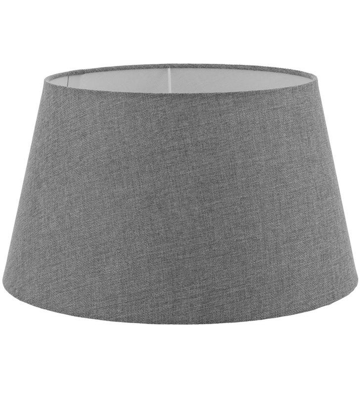 Lampa Vintage - duży szary abażur średnica 40 cm