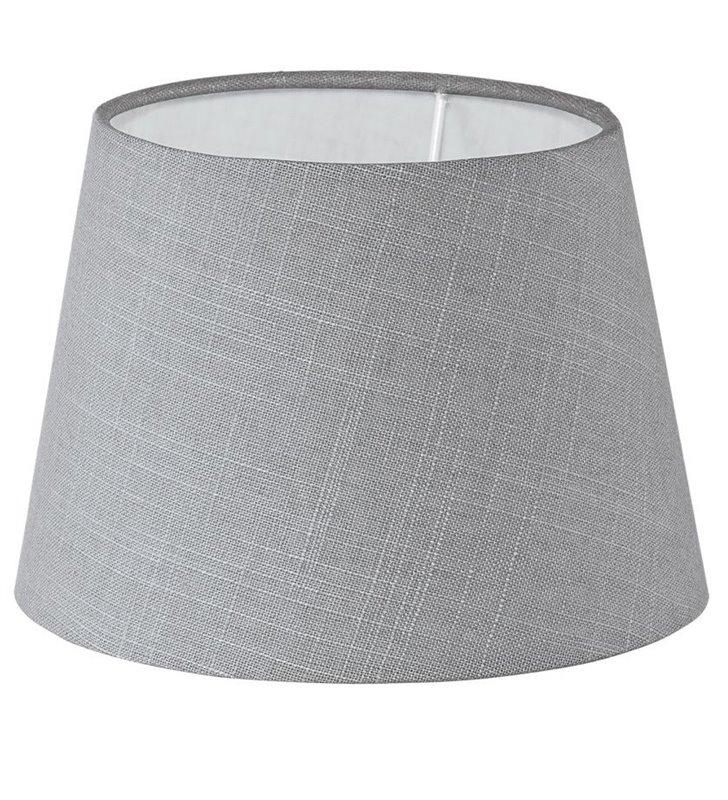 Lampa Vintage(4) - abażur szary stożek 20,5 cm - DOSTĘPNY OD RĘKI