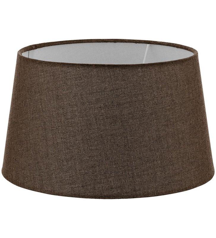 Lampa Vintage (2) - duży brązowy abażur średnica 30 cm - OD RĘKI