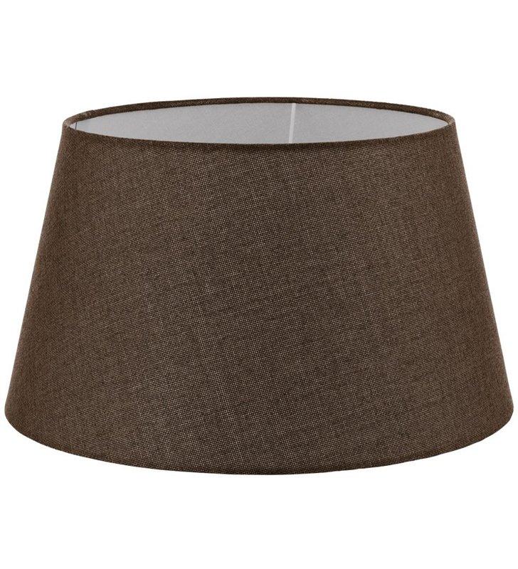 Lampa Vintage (2) - duży brązowy abażur stożek średnica 40 cm