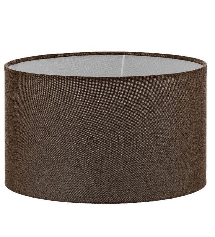 Lampa Vintage - duży brązowy abażur walec średnica 40cm - OD RĘKI