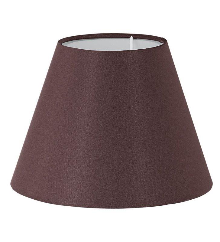 Lampa Vintage(3) - brązowy abażur stożek 20,5 cm