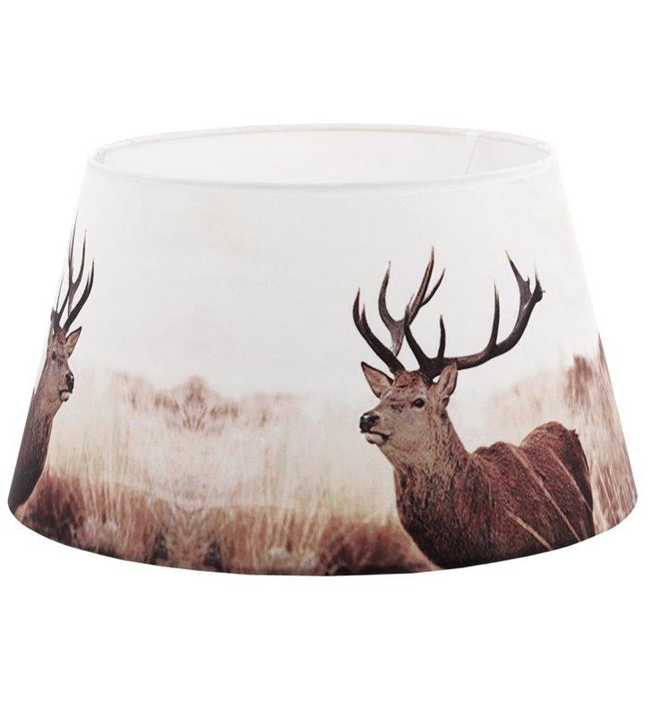 Lampa Vintage (2) - duży abażur z jeleniem średnica 40cm