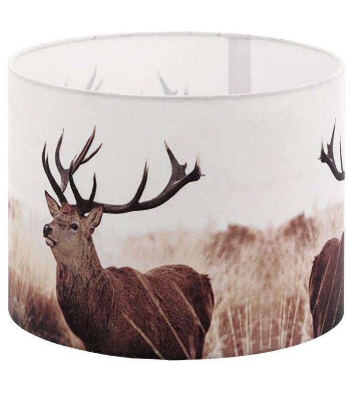Lampa Vintage - abażur z jeleniami średnica 25cm