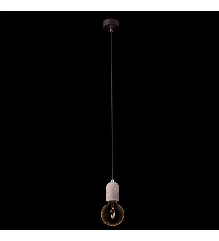 Lampa wisząca Tulum oprawka betonowa na żarówkę