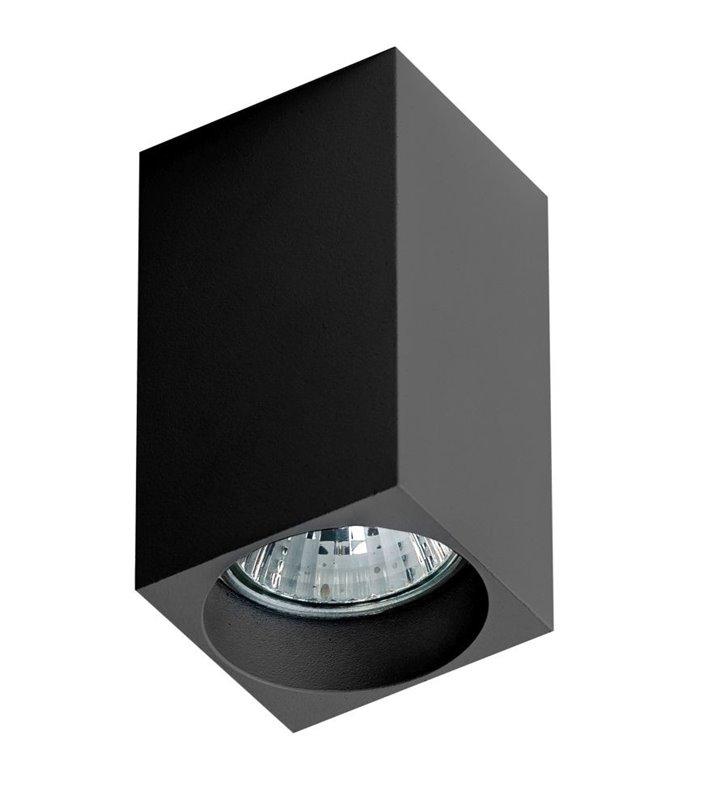 Nieruchoma czarna oprawa sufitowa typu downlight Mini Square