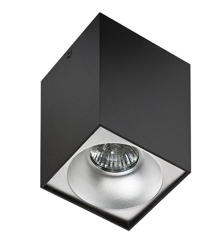 Lampa sufitowa downlight Hugo czarna różne kolory wnętrza