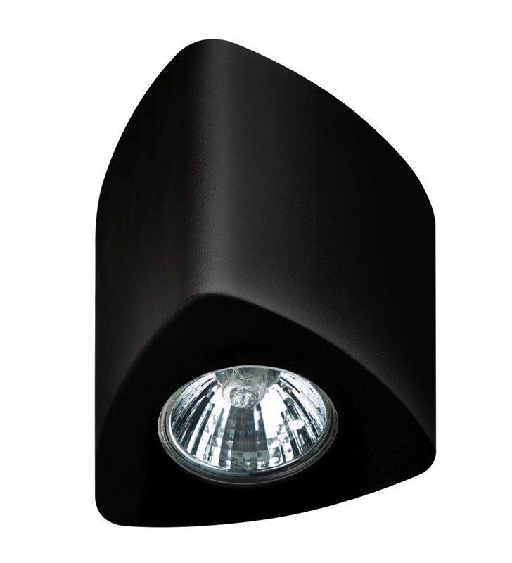Trójkątna lampa sufitowa downlight Dario czarna