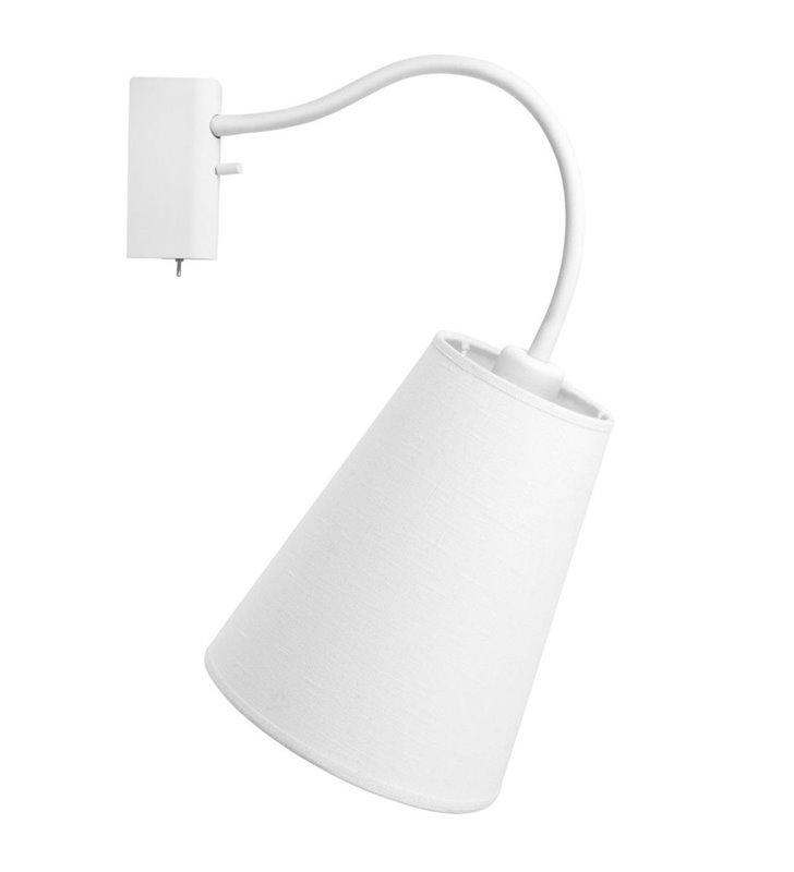 Kinkiet Flex Shade White biały włącznik giętkie ramię - DOSTĘPNY OD RĘKI