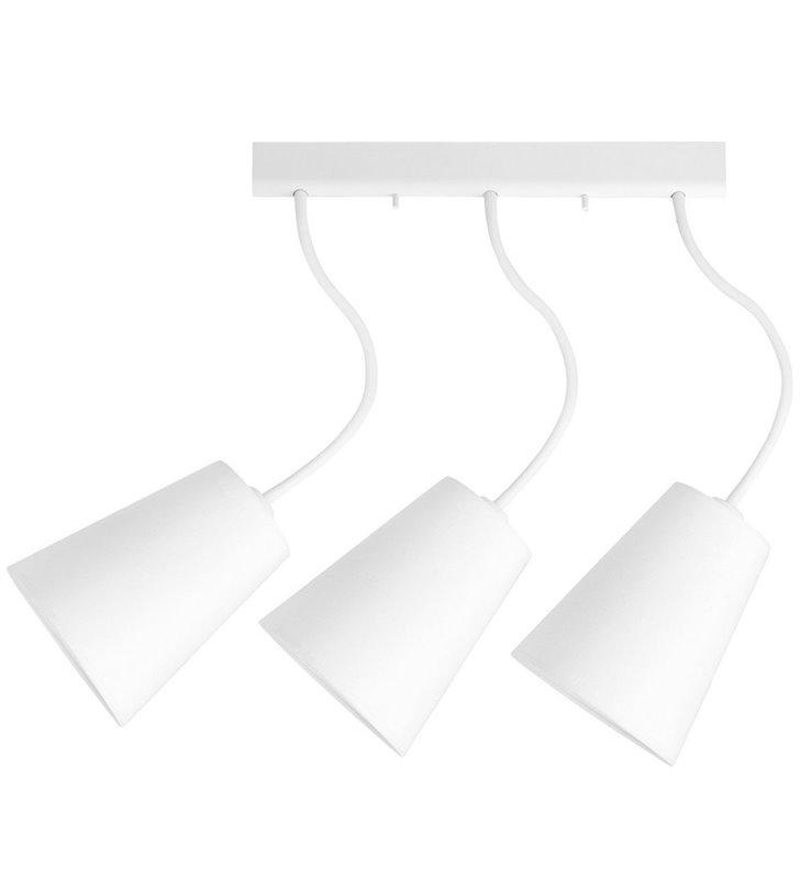 Potrójna lampa sufitowa wisząca Flex Shade White biała ramiona można wyginać - DOSTĘPNA OD RĘKI