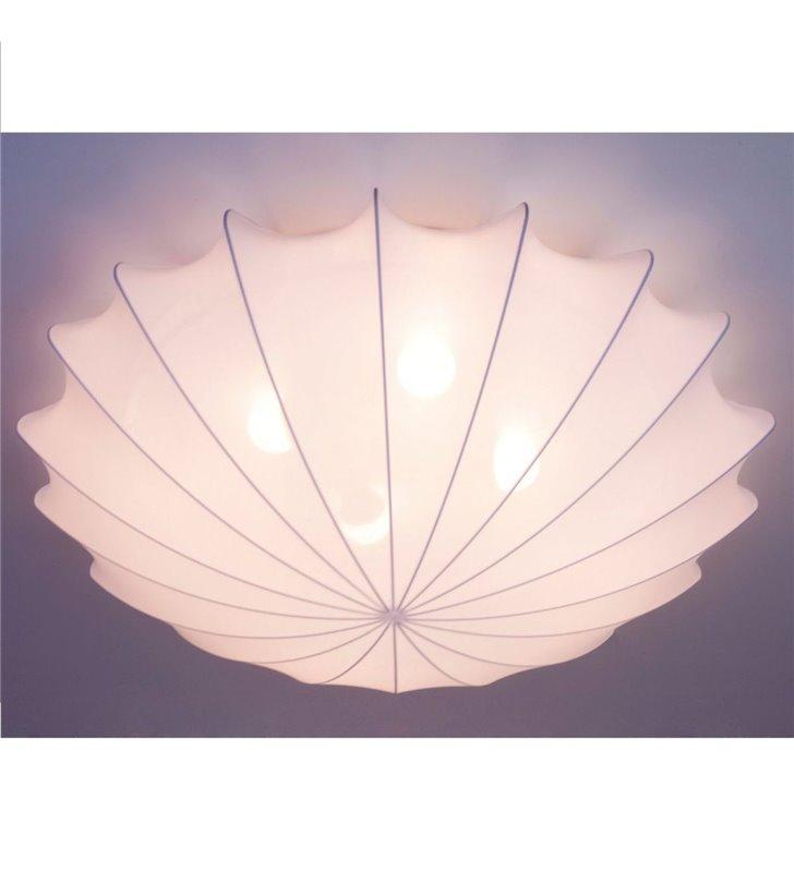Plafon Form 800 duży biały z materiałowym abażurem