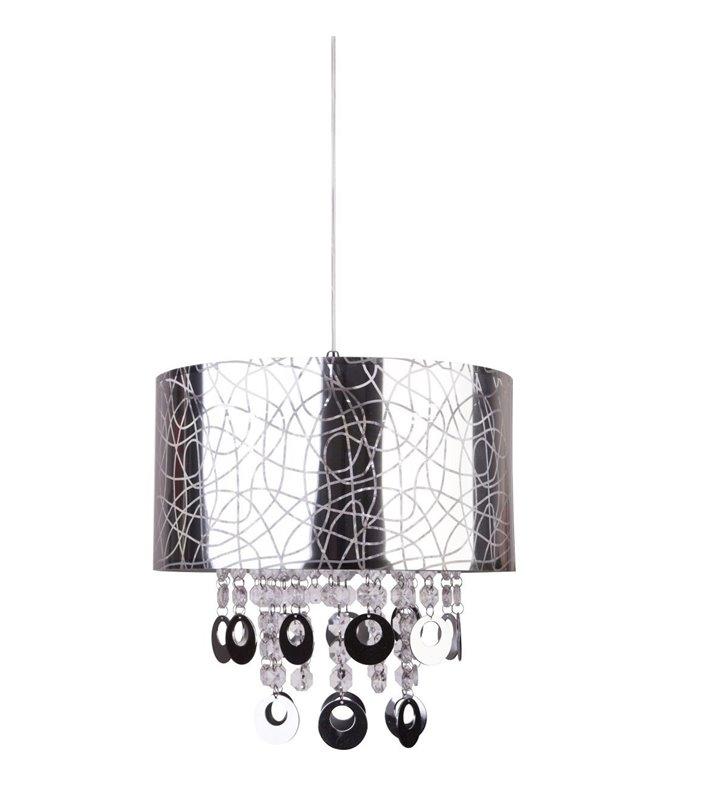 Srebrna lampa wisząca z akrylowymi ozdobami Reggio