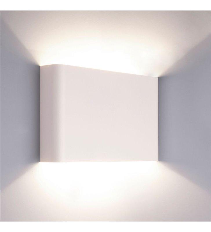 Metalowy biały kinkiet Haga strumień światła góra dół - OD RĘKI