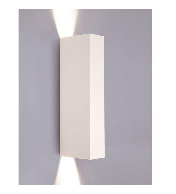 Nowoczesny biały kinkiet prostokątny Malmo