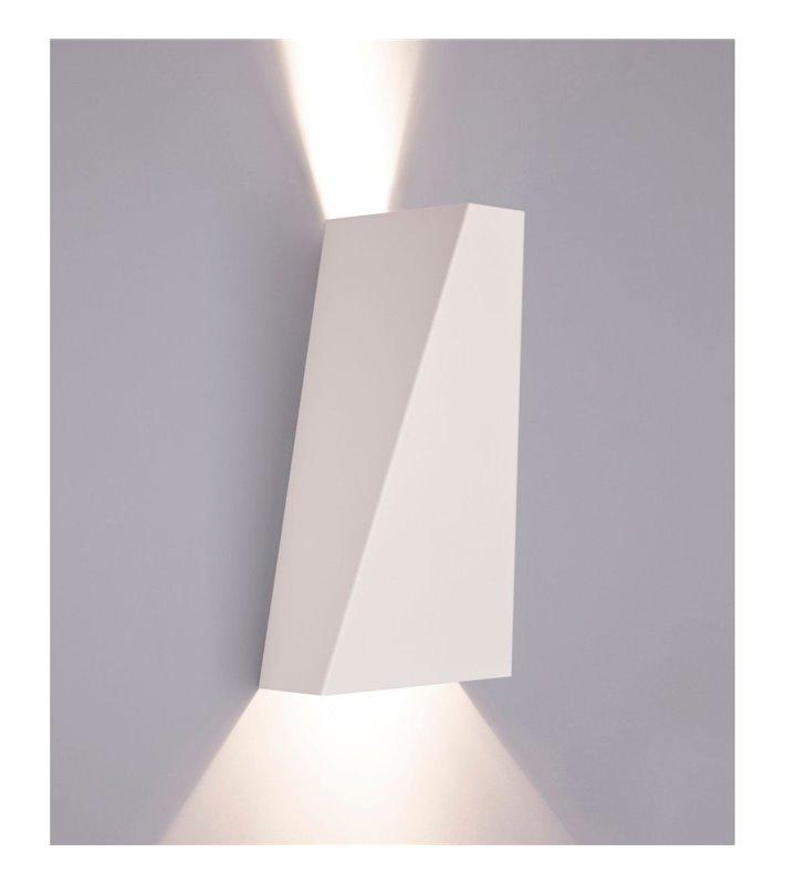 Narwik nowoczesny biały kinkiet ze światłem kierunkowym pionowym