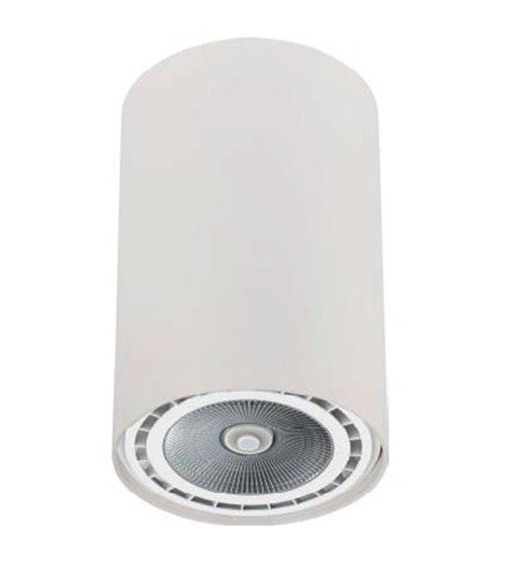 Biała lampa sufitowa downlight Bit White walec