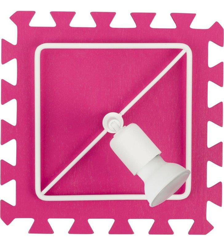 Różowy kinkiet dziecięcy Blocks
