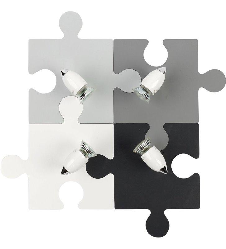 Lampa sufitowa Puzzle 4 punktowa do pokoju dziecięcego młodzieżowego