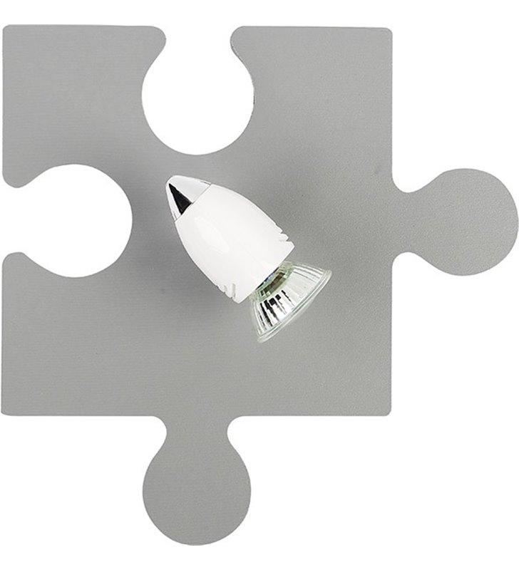 Kinkiet dziecięcy w kolorze szarym Puzzle Light Gray