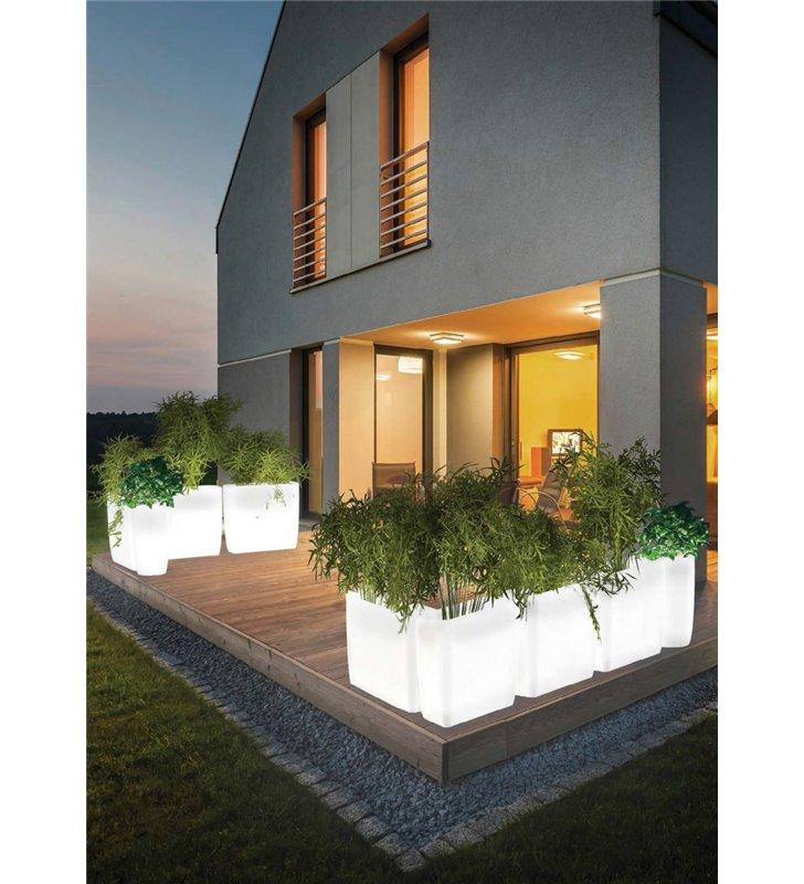 Flowerpot prostokątna podświetlana donica ogrodowa