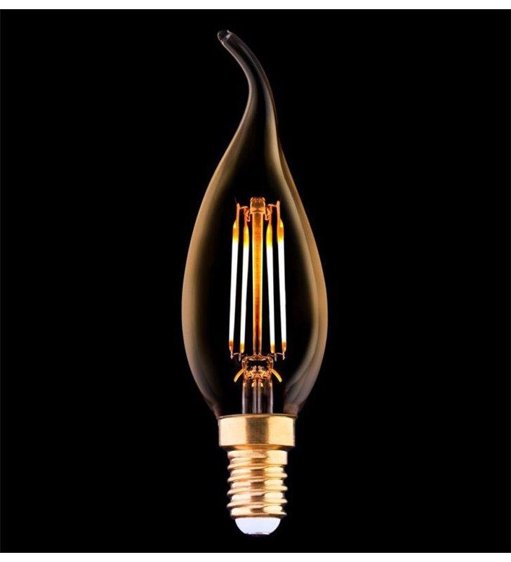 Żarówka dekoracyjna Vintage LED świecowa płomyk E14 4W