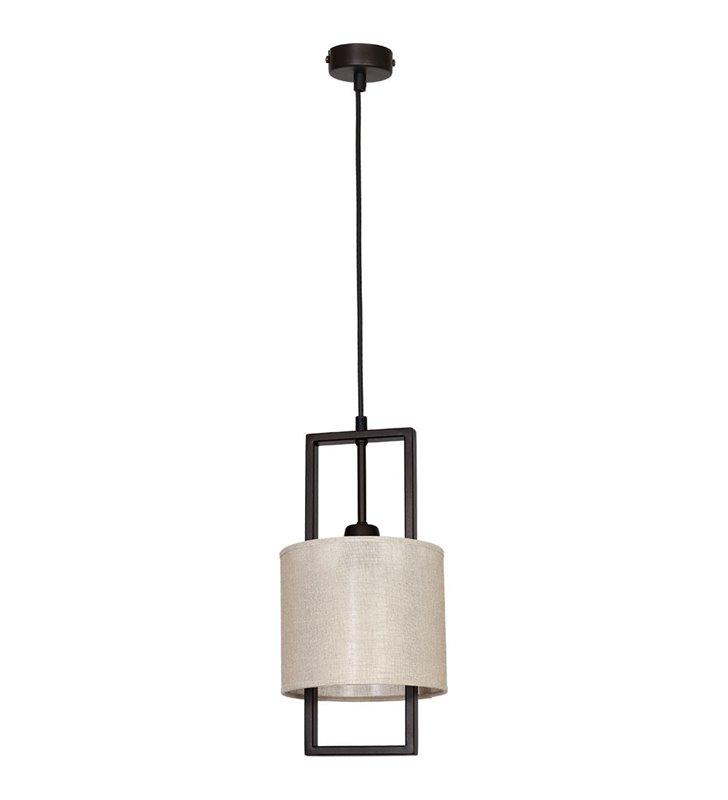 Sprite mała okrągła wisząca lampa abażurowa beżowa - DOSTĘPNA OD RĘKI